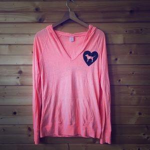Victoria's Secret PINK long sleeved hoodie tee